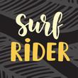 Surf Rider poster. Surfing theme.