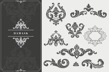 Vintage Damask Elements