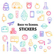 Back to school stickers collection.