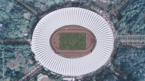 Stickers pour porte Stade de football Football stadium in downtown Jakarta