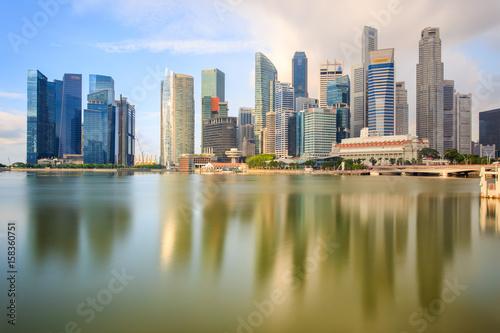 Deurstickers Buenos Aires Building landmark at singapore city