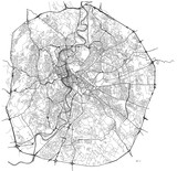 map of the city of Rome, Italy - 158361754