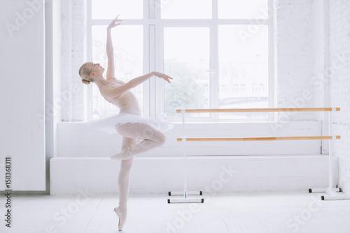 Obraz na plátně Young ballerina in ballet class
