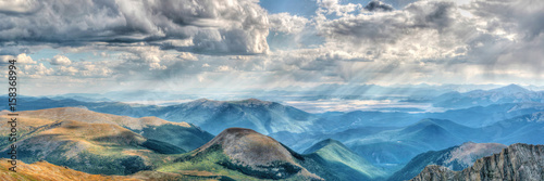 Foto op Aluminium Bergen Mount Evans in Colorado on a clear day with gathering clouds