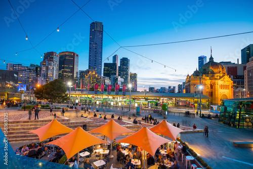 Foto op Plexiglas Chicago Melbourne city skyline at twilight