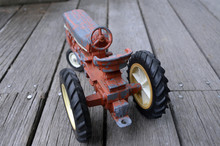 Antique Red Metal Toy Tractor ...