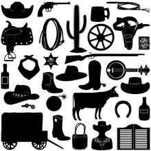 Vector Cowboy Pictograms