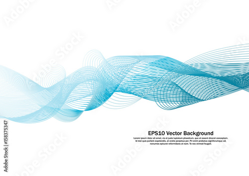 Photo  Water Blue line wave background vector.