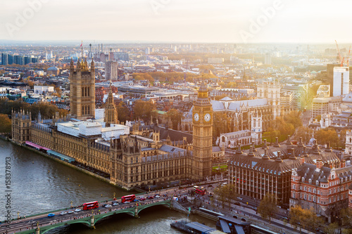 Photo Aerial panorama view on London