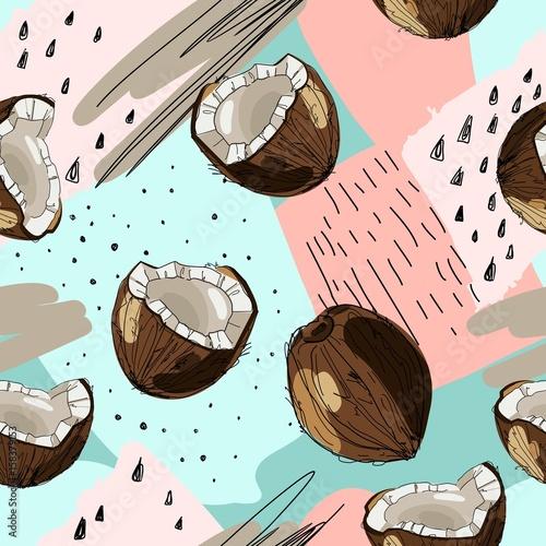 wektorowy-bezszwowy-tropikalny-tlo-z-atramentu-rysujacym-koksem-karmowa-ilustracja-w-rocznika-stylu-dla-druku-tkaniny-opakowa