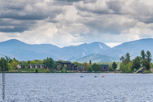 Plakat Mirror Lake of Lake Placid village