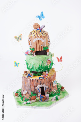 Superb Fancy And Pretty Birthday Cake Buy This Stock Photo And Explore Birthday Cards Printable Riciscafe Filternl