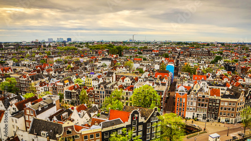 Amsterdam city from the top Canvas Print