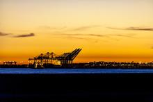 Cargo Ship Sunset