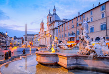 View Of Piazza Navona And Foun...