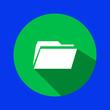 Leinwanddruck Bild - folder icon for web and mobile