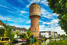 Old Brick Water Tower In Ancie...
