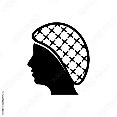 Vector hairnets must be worn icon Canvas Print
