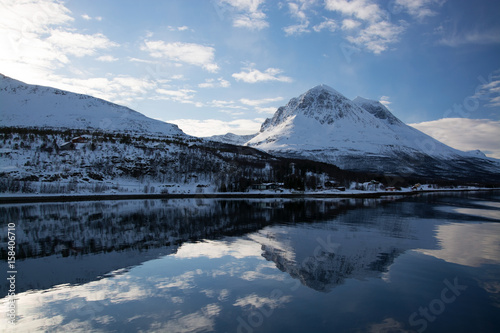 Aluminium Prints Dark grey Die Region Troms, Norwegen