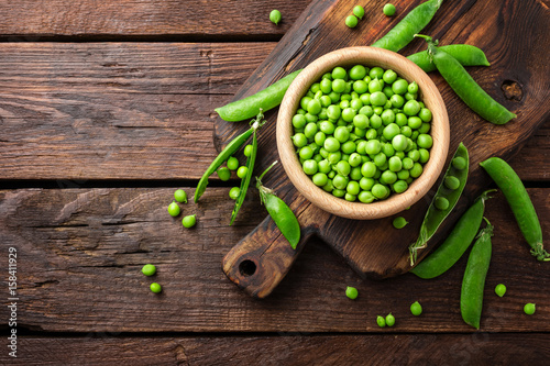 Green peas Wallpaper Mural