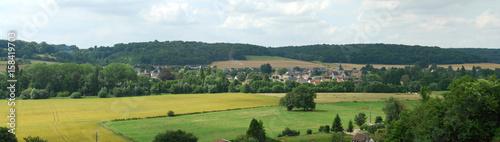 Panorama de la vallée de l'Andelle, Normandie Fototapet