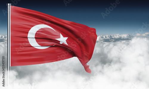 Plakat Flaga Turcji