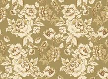 Seamless Floral Pattern In Beige.