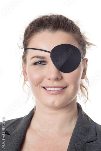 Fotografie, Tablou business woman with eye patch