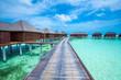 Maldives island with beach