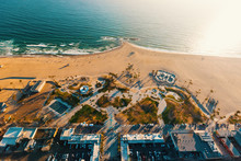 Aerial View Of Venice Beach, CA