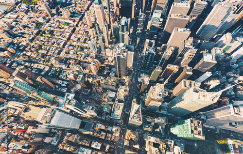 Fototapeta Aerial view of Central Park and Times Square, NY obraz
