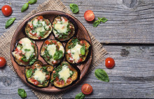 Mini Pizza With Eggplant