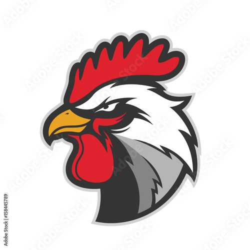 Fotografie, Tablou  Chicken rooster head mascot 5