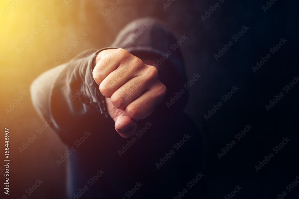 Fototapeta Crime, violence and bullying concept