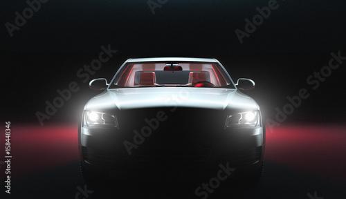 Photo  Automobile di lusso, successo e ricchezza, 3d render