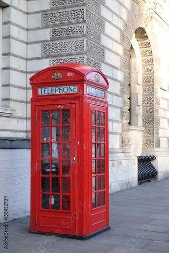 Papiers peints Rouge, noir, blanc Cabinas telefónicas