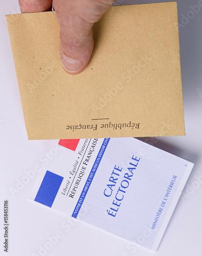 Photo  Carte électorale