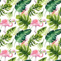 fototapeta tropiki z Flamingami