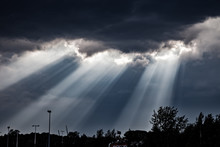 Sun Rays Falling Through The C...