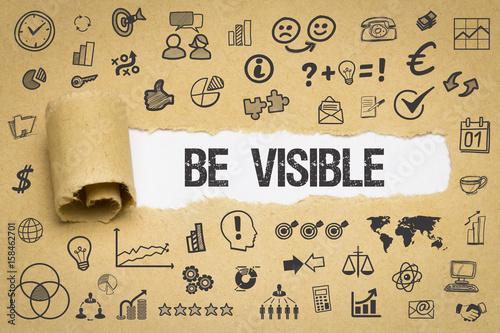 Fotografía Be Visible / Papier mit Symbole