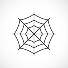 Spider Web Vector Pictogram