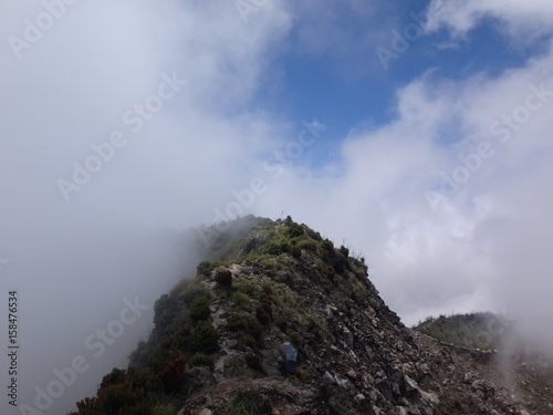 Obraz na plátně Mount Talang in Sumatra, Indonesia