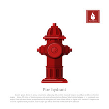 Fire Hydrant On White Background. Firefighter Equipment In Realistic Style. Vector Illustration