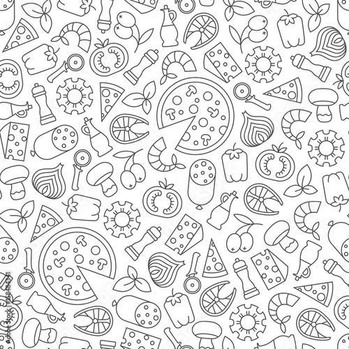 pizza-wzor-kontury