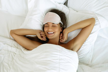 Happy Woman Waking Up After Good Sleeping