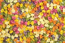 Colorful Italian Farfalle Pasta