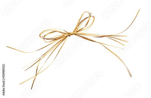 Valokuva  Beige raffia bow