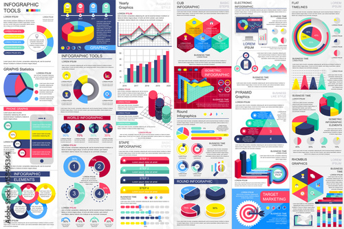 Photo  Infographic elements data visualization vector