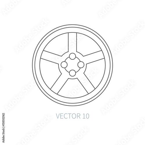 Line Flat Vector Icon Car Repair Part
