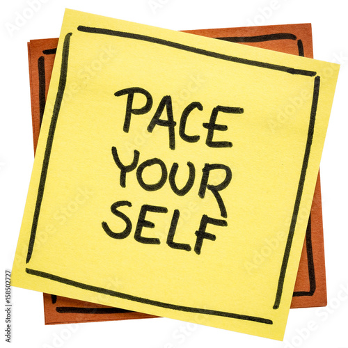 Fotografie, Obraz  pace yourself reminder note